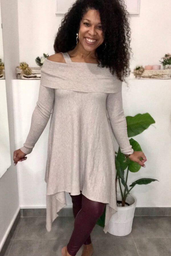 Vestido Jersey Asimétrico 1