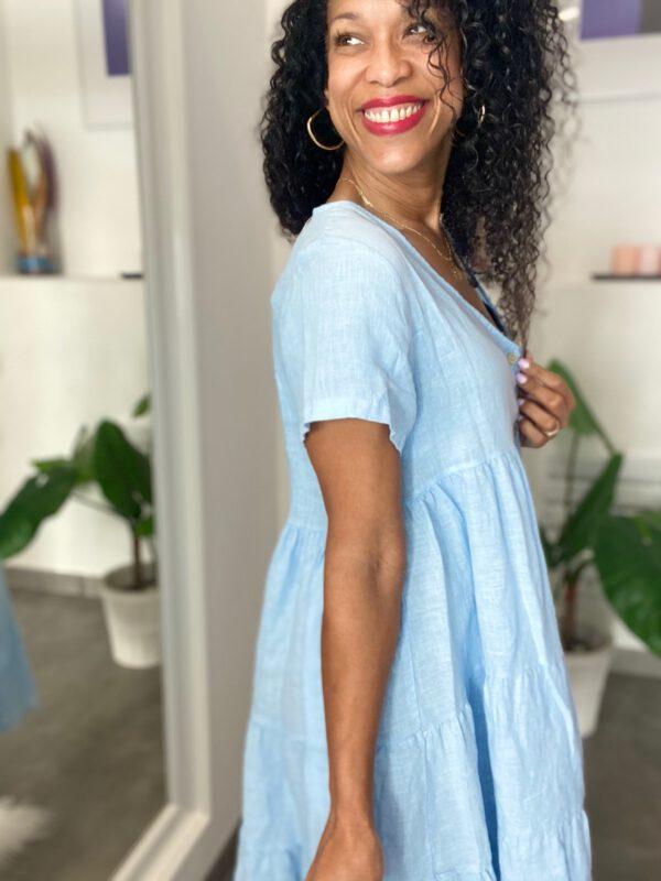 Vestido de lino corto 4