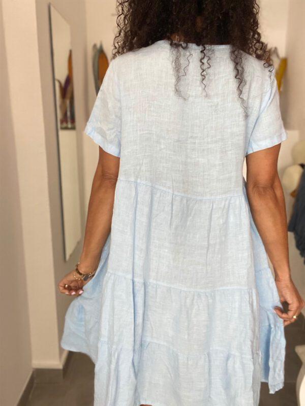 Vestido de lino corto 5